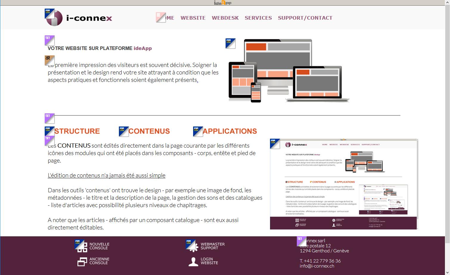 Edition des contenus avec modules ideApp